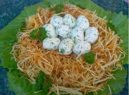 Салат гнездо с пошаговым фото